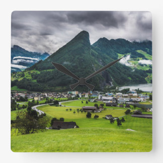 Schwyz Valley And Lauerzersee Wall Clock