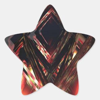 Sci fi sticker étoile