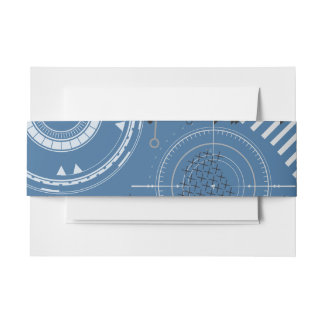 SCI-FI Bat Mitzvah Belly Wrap Band Invitation Belly Band