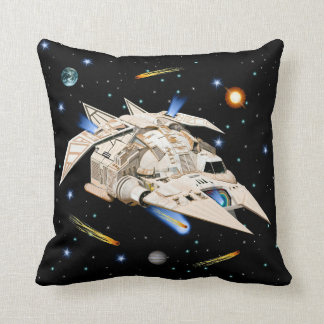 Sci-Fi Falcon Inspired Space Throw Pillow