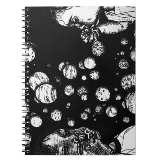 Sci-Fi Fantasy Children with Space Planet Bubbles Spiral Note Book