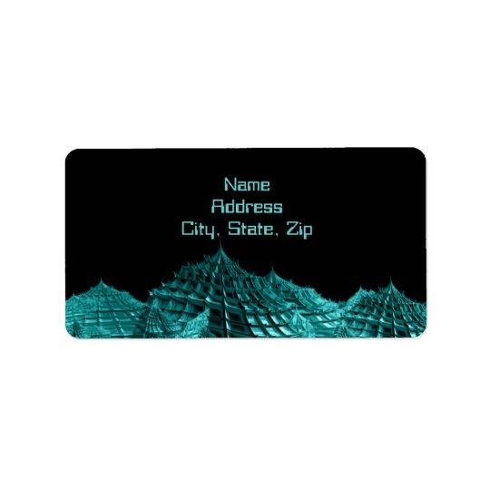 Sci fi fantasy landscape label