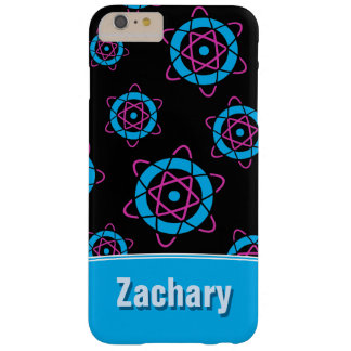Sci Fi Geek Atom Symbol Personalized Name Barely There iPhone 6 Plus Case
