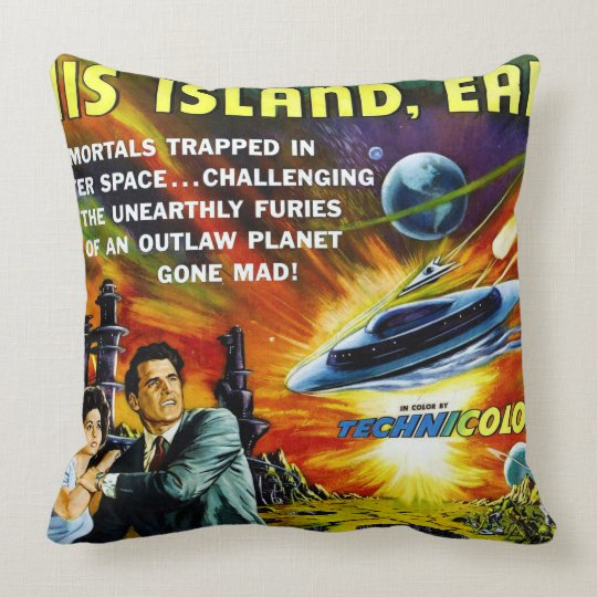 Sci-Fi Movie Poster 1954 Throw Pillow