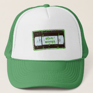 Sci-Fi-Movies Black & Green Non Black Square Trucker Hat
