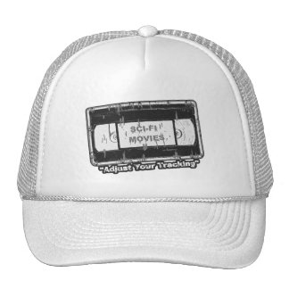 Sci-Fi-Movies Black & White Adjust your Tracking Trucker Hat