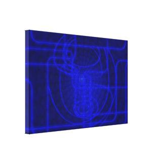 Sci-Fi Neon Circuits Canvas Print