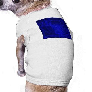 Sci-Fi Neon Circuits Doggie T Shirt