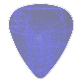 Sci-Fi Neon Circuits White Delrin Guitar Pick