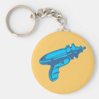 Sci-Fi Ray Gun Laser Pistol Basic Round Button Keychain