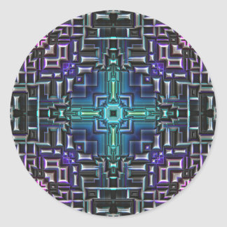 Sci fi Shell métallique Sticker Rond