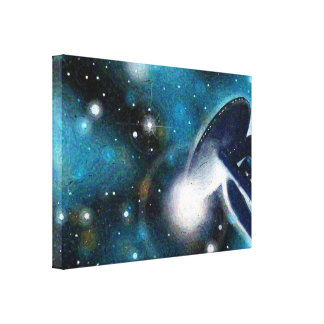 """Sci-Fi Space Station"" Art on Canvas"