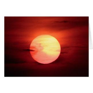 Sci-fi Sunset Card