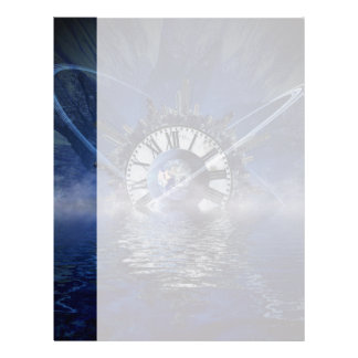 Sci-Fi Time Splash Customized Letterhead