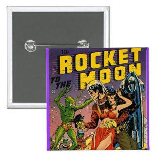 Sci Fi Vintage Comic Book Cover Art Pin