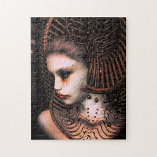 Sci-Fi Woman in Futuristic Headdress Jigsaw Puzzle