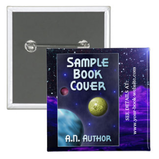 Sci-Fi Writer / Author Promotion: Book Cover 2 Inch Square Button