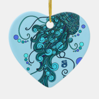 SCI - Jellyfish -String Cheese Incident - Tequilla Ceramic Heart Ornament