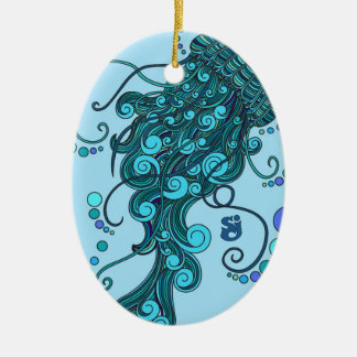 SCI - Jellyfish -String Cheese Incident - Tequilla Ceramic Oval Ornament