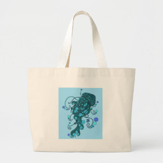 SCI - Jellyfish -String Cheese Incident - Tequilla Large Tote Bag