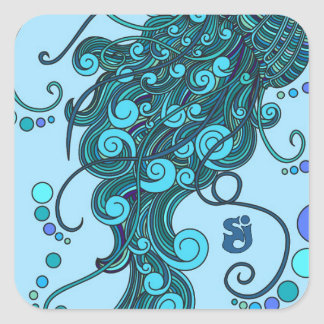 SCI - Jellyfish -String Cheese Incident - Tequilla Square Sticker