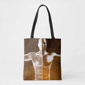 Science Abstract as a Concept Background Art Tote Bag