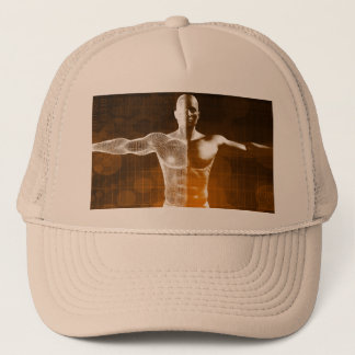 Science Abstract as a Concept Background Art Trucker Hat