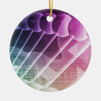 Science Abstract Presentation Background Round Ceramic Ornament