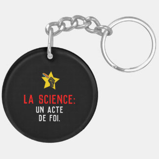 Science an act of faith humour French satire Keychain