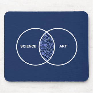 Science / Art Venn Diagram Mouse Pad