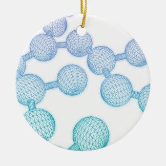 Science Atom and Chemical Formula as Concept Round Ceramic Ornament