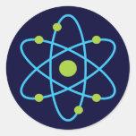 Science Atom Round Stickers