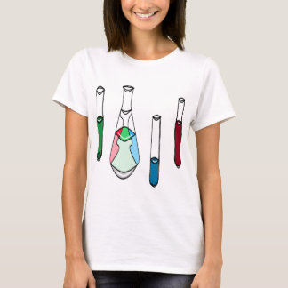 Science Beakers Test Tubes Solutions STEM T-Shirt