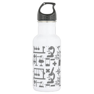 Science Biology Physics Geography Math Pattern 532 Ml Water Bottle