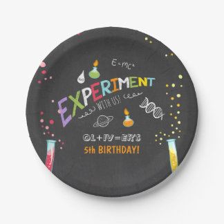 Science Birthday Paper plates Experiment Lab Boy