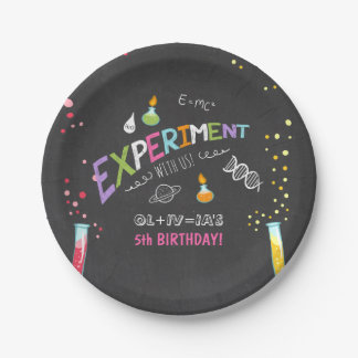 Science Birthday Paper plates Experiment Lab Girl