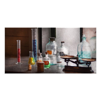 Science - Chemist - Chemistry Equipment Personalized Photo Card