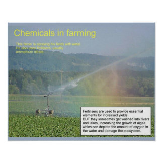Science, Chemistry, Chemicals in farming Poster