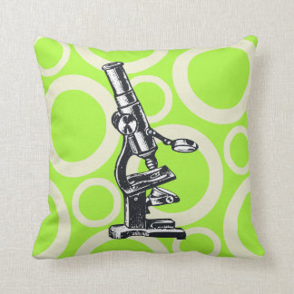 Science Chic - Microscope Throw Pillow