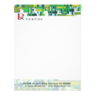 Science Circuit Green Letterhead
