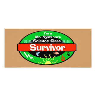 Science Class Survivor Including Periodic Table Rack Card