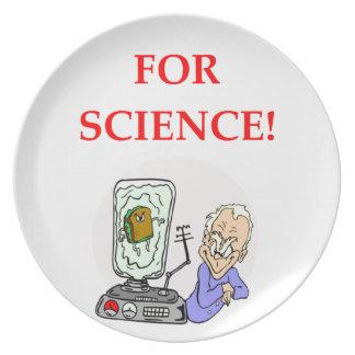 science dinner plates