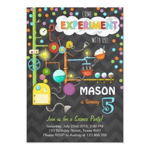 Birthday invitations announcements zazzle ca science experiment birthday party invitation filmwisefo