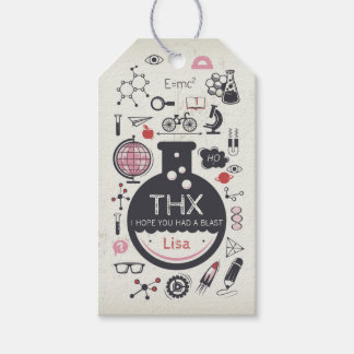 Science Favor Tag - Mad Scientist Party - Girl