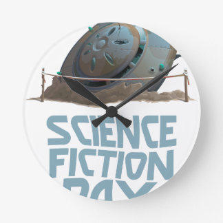 Science Fiction Day - Appreciation Day Round Clock