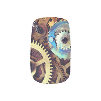 Science Fiction Fantasy Steampunk Gears vintage Minx Nail Art