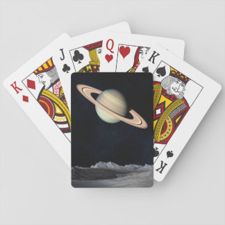 Science Fiction Space Saturn Planet Playing Cards
