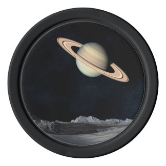 Science Fiction Space Saturn Planet Poker Chips