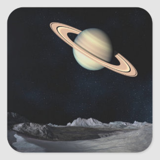 Science Fiction Space Saturn Planet Stickers