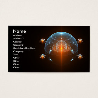 Science Fiction Spaceship Business Card